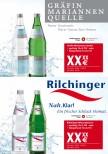 Handelsanzeige Gräfin Mariannen Quelle + Rilchinger Mineralwasser