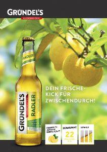 Gründel's RADLER Produktblatt
