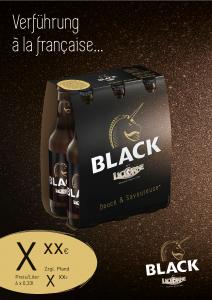 Licorne Black Handelsanzeige A4 hoch