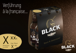 Licorne Black Handelsanzeige A5 quer