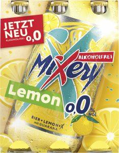 MiXery alkoholfrei Guarana Lemon Sixpack (Frontal)