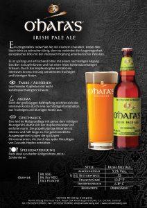 O'hara's Irish Pale Ale Produktblatt