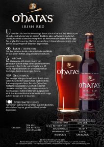 O'hara's Irish Red 0,33l Produktblatt