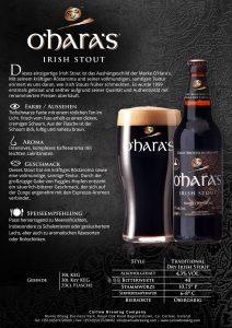 O'hara's Irish Stout 0,33l Produktblatt