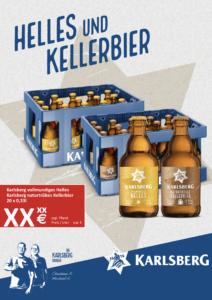 Handelsanzeige Helles + Kellerbier Stubbi A4 hoch