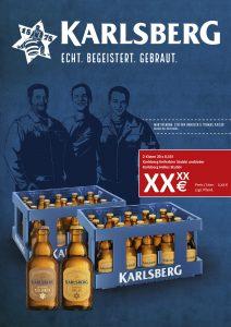 Handelsanzeige Kellerbier + Vollmundiges Helles Kiste Stubbi