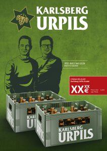 UrPils Handelsanzeige 2 Kisten Stubbi