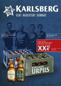 Handelsanzeige UrPils + Natur Radler Kiste Stubbi
