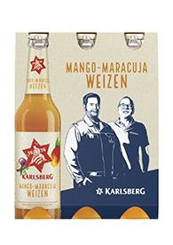 Mango-Maracuja Weizen Sixpack 6x 033l Longneck frontal