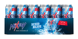 MiXery iced blue Dosentray 24x 0,5l (Frontal lange Seite)