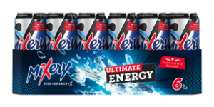 MiXery Ultimate Energy Dosentray 24x 0,5l (Frontal lange Seite)